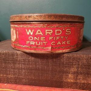 Antique Fruit Cake Tin